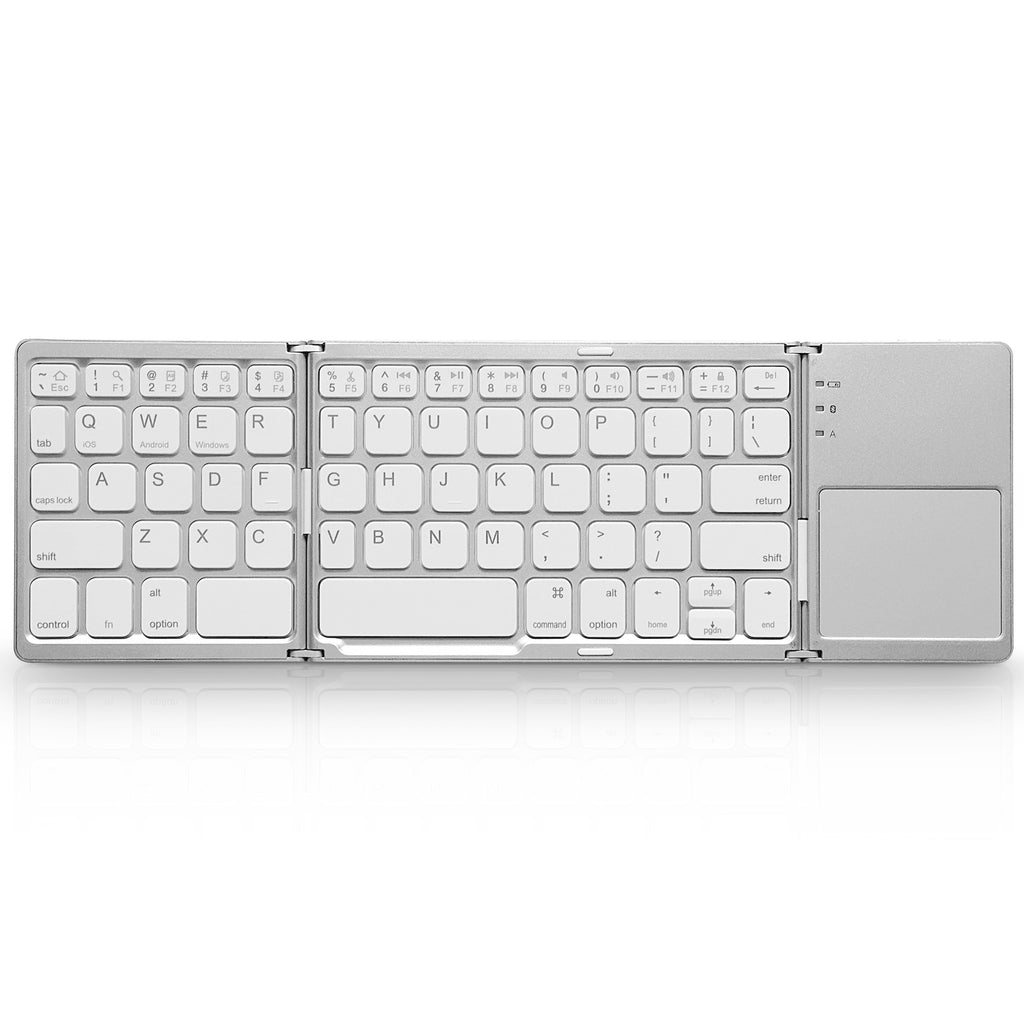 FOLDBOARD TOUCH: FOLDING KEYBOARD WITH TOUCHPAD (SILVER)