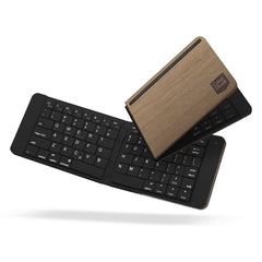 FOLDBOARD: FOLDABLE KEYBOARD (WOOD BLACK)