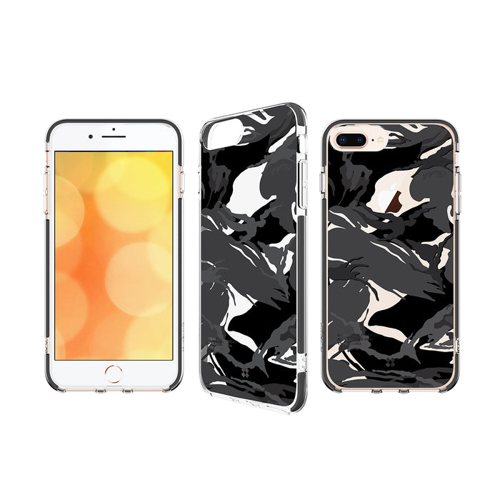 iPHONE 8 PLUS PRISMART IMPACT CASE: CAMO BLACK