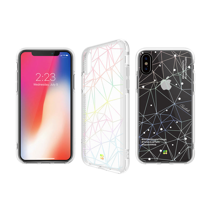 iPHONE X PRISMART IMPACT CASE: TRIPLE WHITE