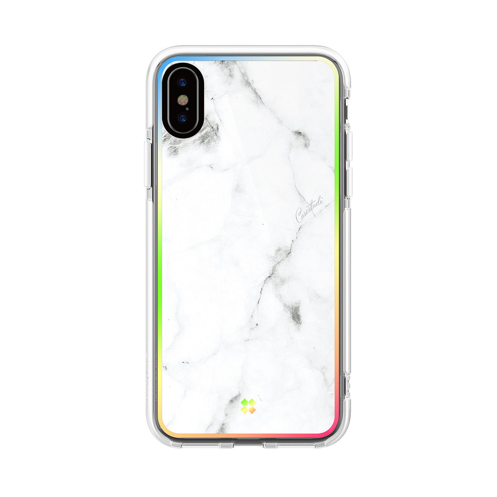 iPHONE X PRISMART IMPACT CASE: MARBLE WHITE