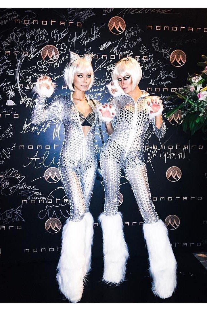 MOONSHINE silver catsuit