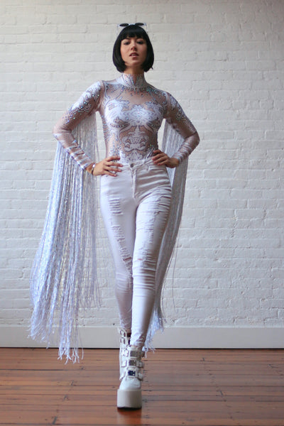 Slightly Dazed Fringed Catsuit
