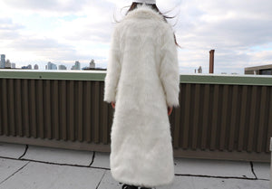 CYBERian faux fur EXTRA LONG COAT