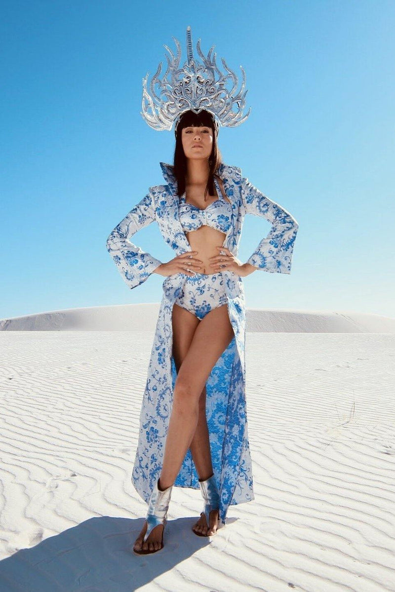 DIVINE FEMININE jacket+top+shorts-costumes-Harmonia-burning man-burning man costumes-festival outfits-halloween costumes-Harmonia