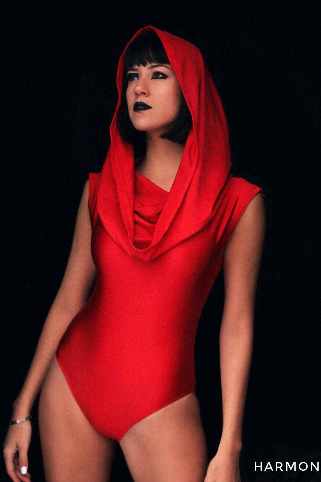 GALACTIKA metallic hooded bodysuit-costumes-Harmonia-burning man-burning man costumes-festival outfits-halloween costumes-Harmonia