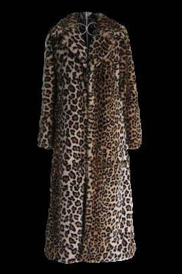 UNCERTAINTY PRINCIPLE leopard long coat