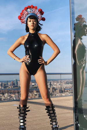 BULLET PROOF HEART latex one piece