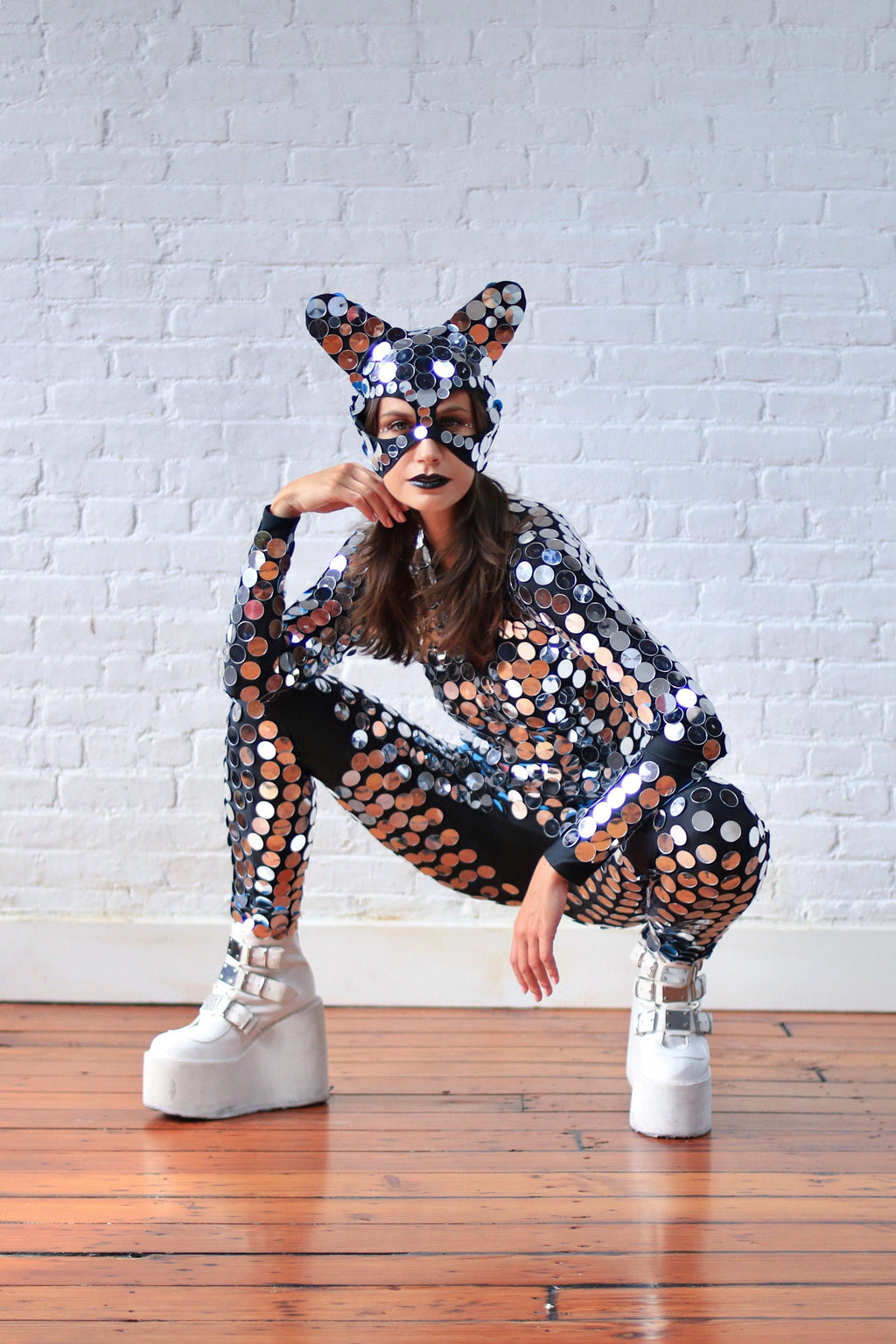 Space Kat mirrored suit