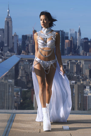 RISE ABOVE silver bikini set