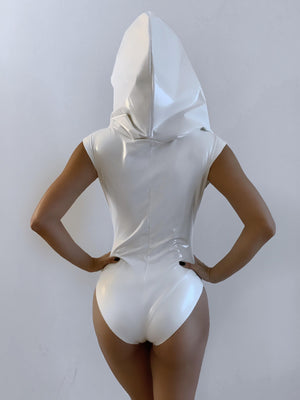 GALACTIKA hooded bodysuit White