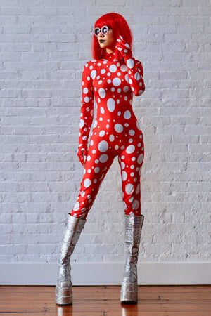 KUSAMA INSPIRED COLLECTION bodysuit II-bodysuit-Harmonia-burning man-burning man costumes-festival outfits-halloween costumes-Harmonia