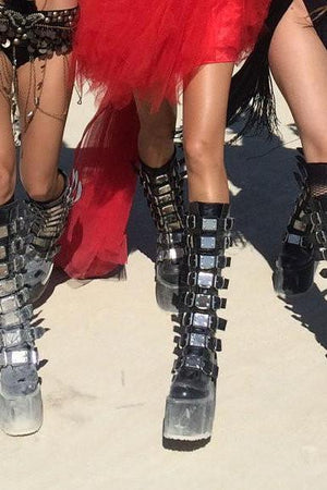 SAND WARRIOR CYBER GOTH platform boots-costumes-Harmonia-burning man-burning man costumes-festival outfits-halloween costumes-Harmonia