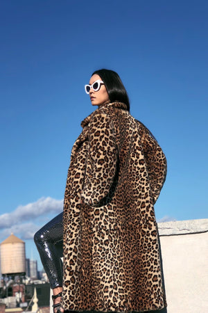 UNCERTAINTY PRINCIPLE leopard long coat-Burning man essentials-Harmonia-burning man-burning man costumes-festival outfits-halloween costumes-Harmonia