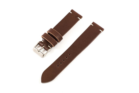 Vintage Style Watch Strap - Tochigi: Brown