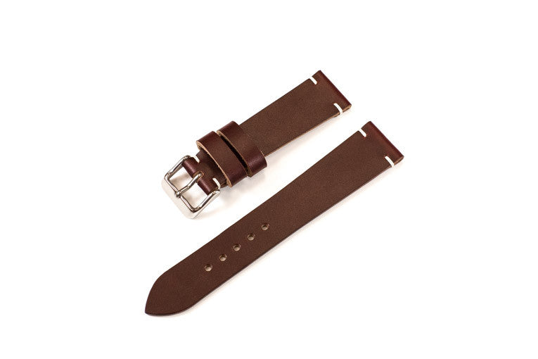 39e44d5d77aa Vintage Style Watch Strap - Horween Chromexcel: Burgundy – District ...