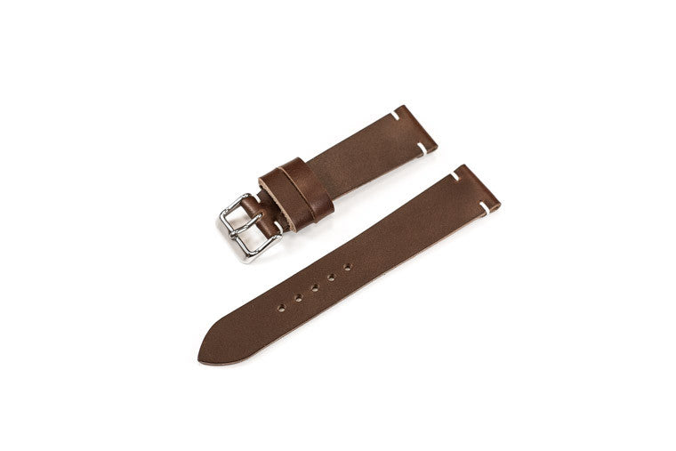 Vintage Style Watch Strap - Horween Chromexcel: Chocolate