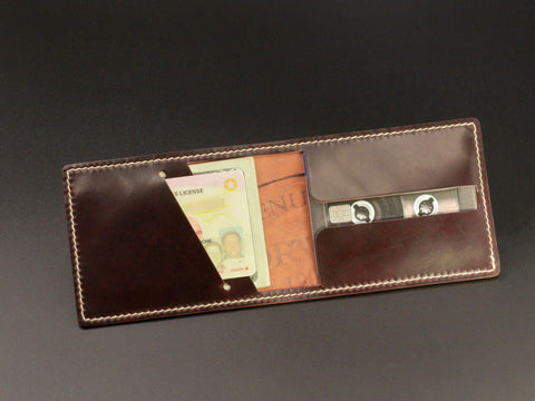 Metro - Horween Shell Cordovan Thin Bifold Wallet