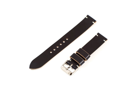 Vintage Style Watch Strap - Horween Shell Cordovan: Navy Blue