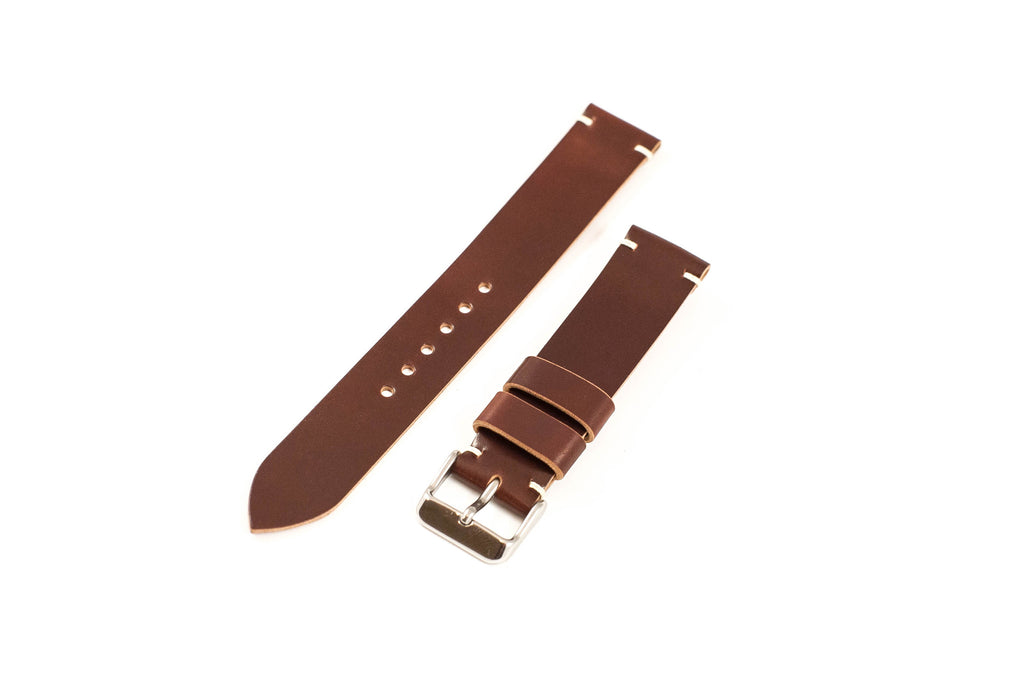 Vintage Style Watch Strap - Horween Shell Cordovan: Color #4