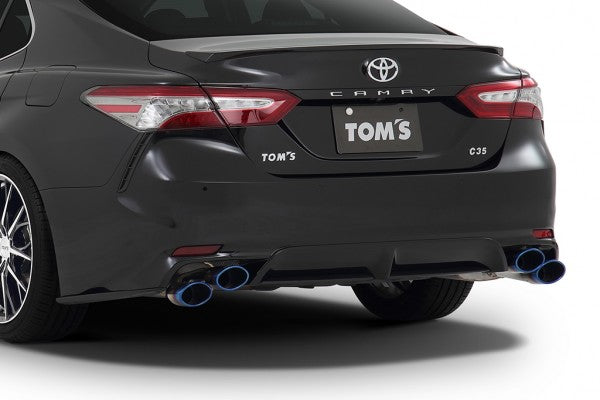TOM'S Racing- Stainless Exhaust System for 2018+ Toyota Camry (Titanium- Quad Tips)