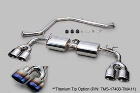TOM'S Racing- Stainless Exhaust System for 2019+ Lexus UX250h/ UX200 [2WD Only] (Titanium- Quad Tips)