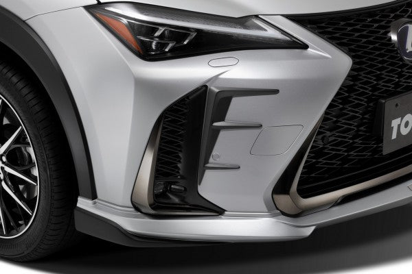 TOM'S Racing- Front Bumper Garnish for 2019+ Lexus UX (UX200 & UX250h) F-Sport- [FRP- Painted Matte Black]