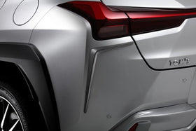 TOM'S Racing- Rear Bumper Garnish for 2019+ Lexus UX (UX200 & UX250h)- [FRP- Painted Matte Black]