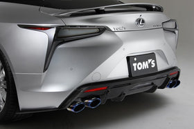 TOM'S Racing- Stainless Exhaust System (TOM'S Barrel/Titanium Tip) for 2018+ Lexus LC500