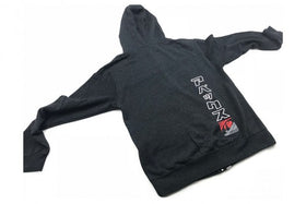 A'PEXi Cursive Zip-up - Hoodie - Charcoal Heather Grey