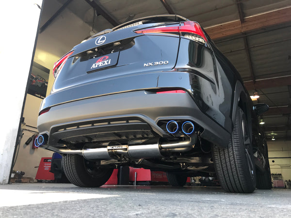 N1-X Evolution Extreme Axleback Exhaust - 2018+ Lexus NX300 (Turbo)