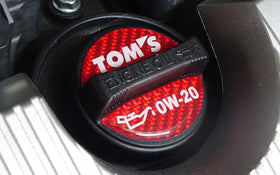 TOM'S Racing- Oil Filler Cap Garnish Sticker