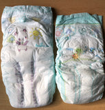Pampers sz. 8 Sample - Two Diapers/Nappies