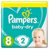 2x Pampers 8 Diapers