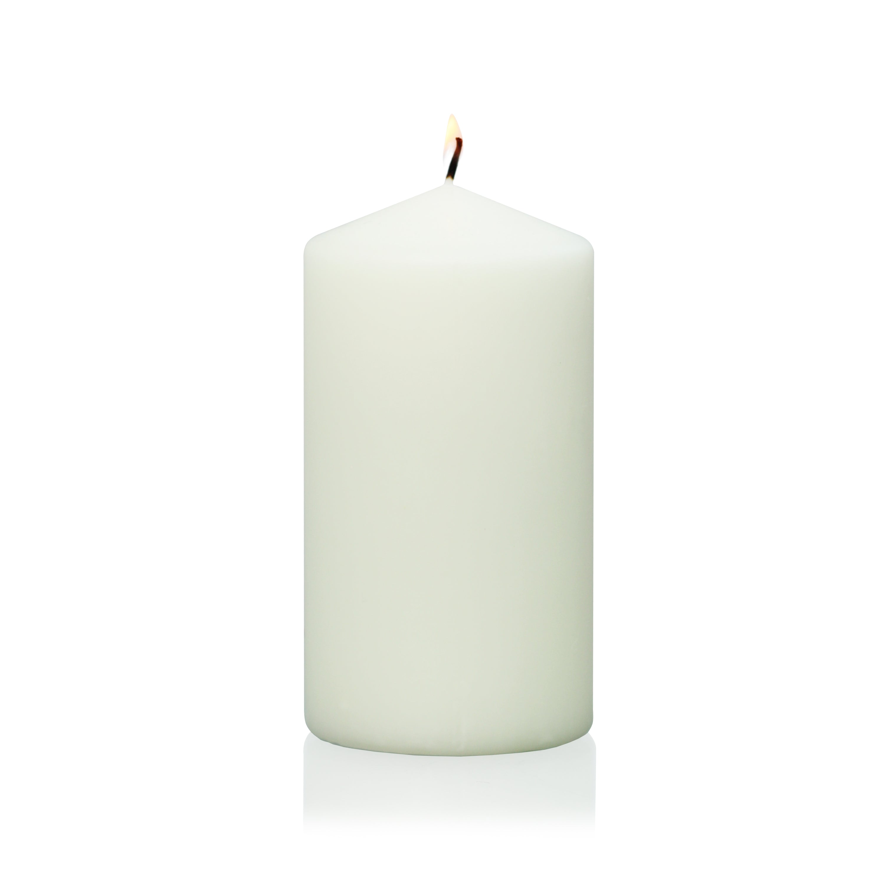 "3"" Ivory Wrapped Pillar Candle"