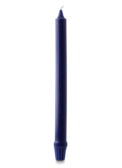 "12"" Royal Fluted Candles, Midnight Blue - Pack of 12"