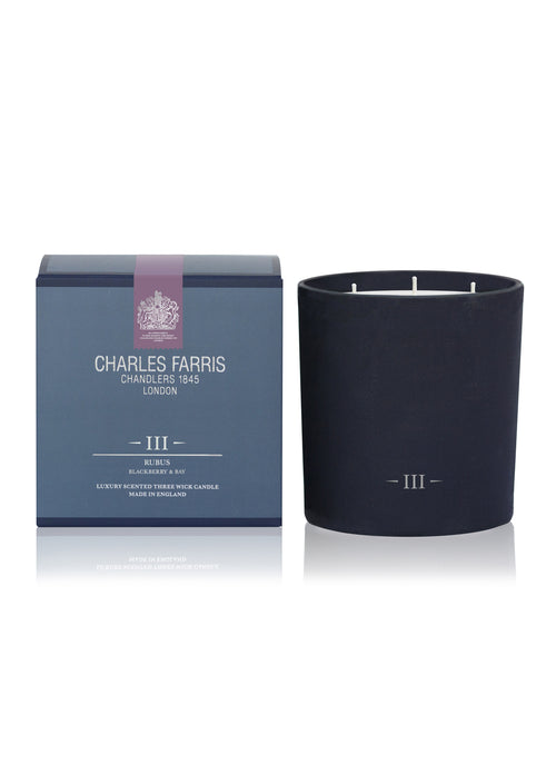 Rubus 3 Wick Scented Candle | Blackberry & Bay