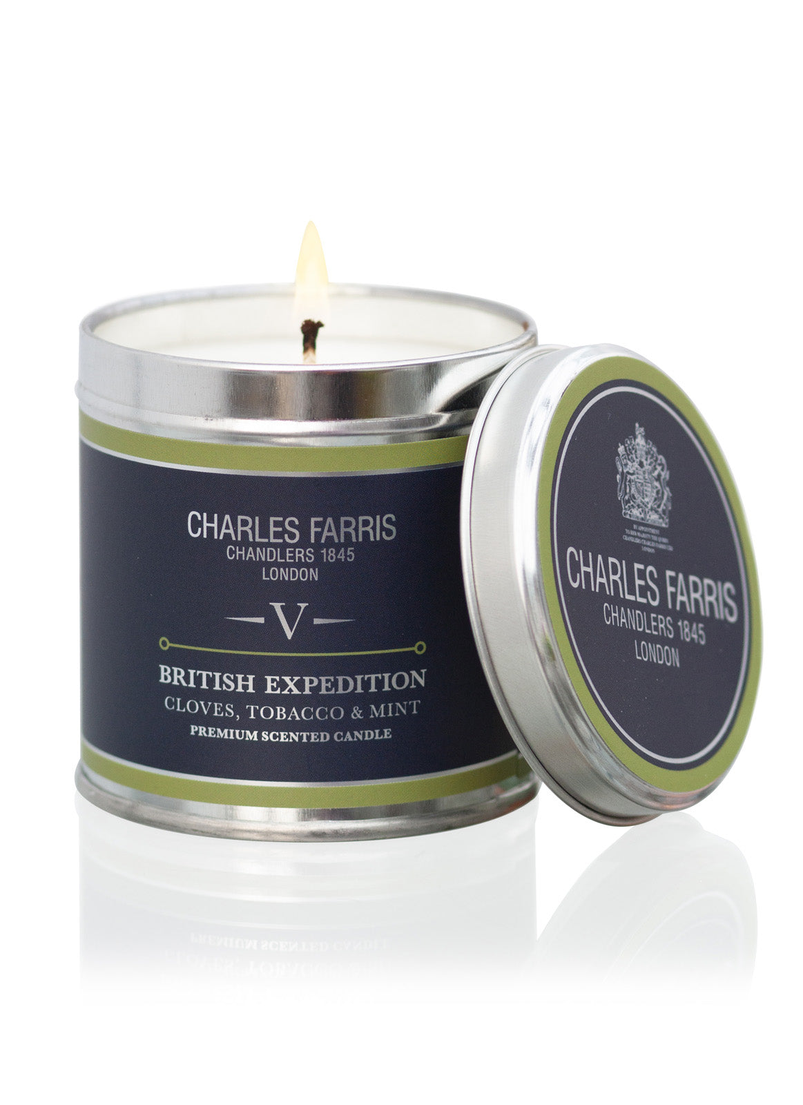 British Expedition Tin Candle | Cloves, Tobacco & Mint Tea