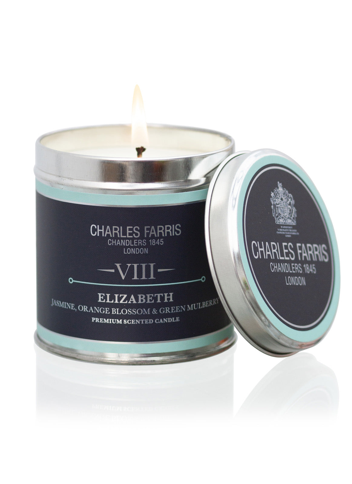 Elizabeth Scented Tin Candle | Orange Blossom, Jasmine & Mulberry