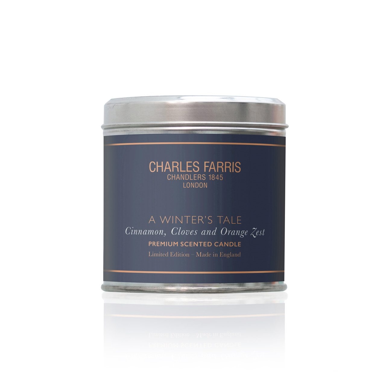 A Winter's Tale Tin Candle | Orange Zest, Cinnamon & Cloves