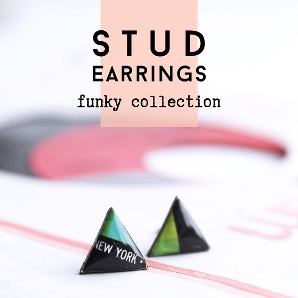 Vinyl Record Stud Earrings / FUNKY Collection