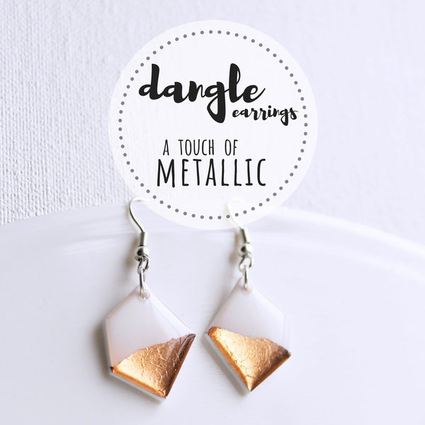 Dangle Earrings // Metallic Collection