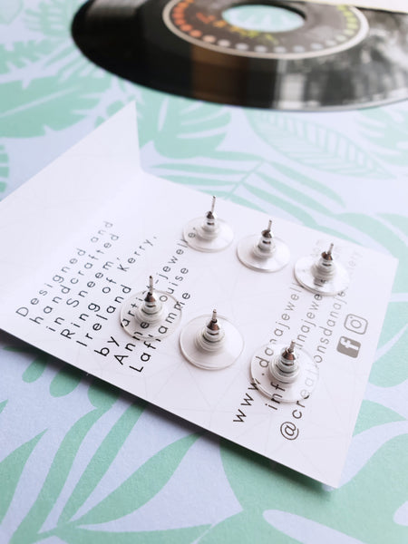 unique handmade stud earrings