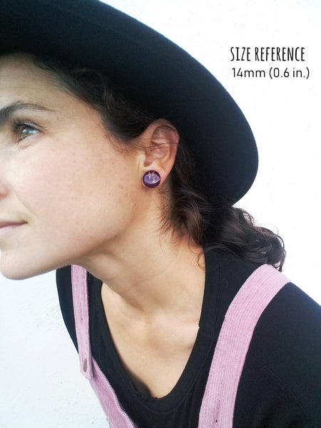 handcrafted eco-friendly recycled vinyl record earrings