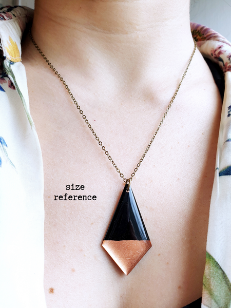 Classy geometric upcycled vinyl record necklace / handmade sustainable jewelry