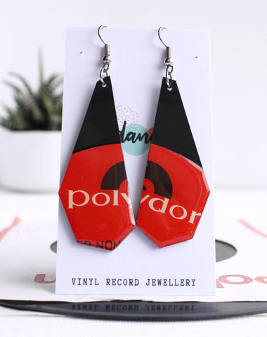 *New one of a kind POLYDOR long geometric dangly dangles