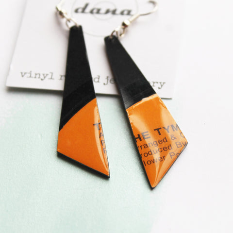 colorful eco-friendly earrings / orange