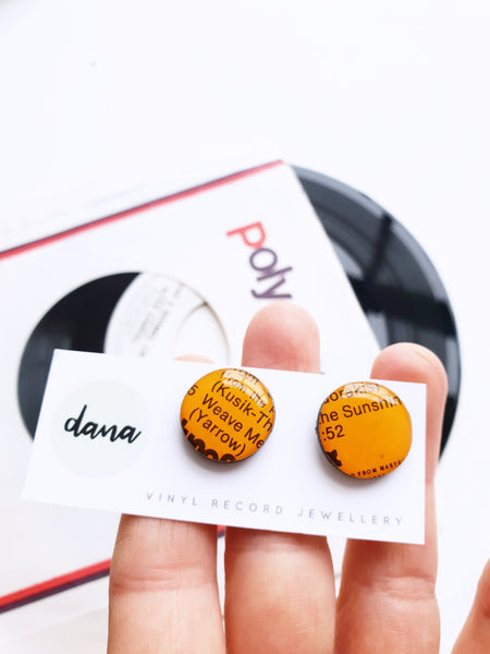 60% OFF Cufflinks Weave Me the Sunshine - handmade from recycled vinyl record