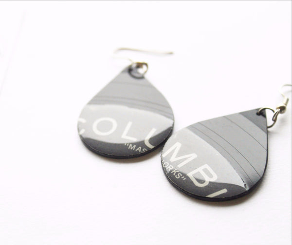 Columbia vinyl record dangle earrings