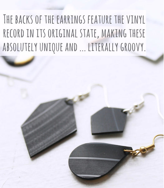 handcrafted vinyl record jewelry by Dana Jewellery